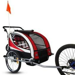 2 in 1 Bicycle Pet Trailer Stroller Baby Jogger Pet Dog Bike