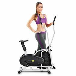 2 IN 1 Elliptical Fan Bike Cross Trainer Machine Exercise Wo