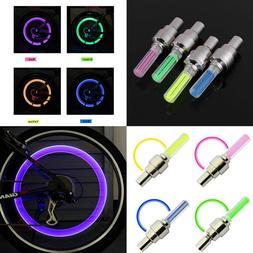 1 INDIVIDUAL LED CAP bike valve stem flashing Light Bicycle