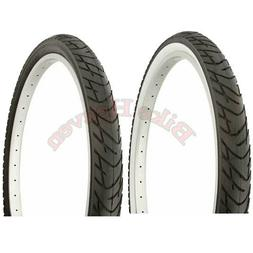 """1 PAIR DURO Bicycle Tire 26"""" x 2.125 ALL BLACK or Black/Whit"""
