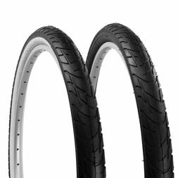 """1 PAIR! - BICYCLE TIRE 26"""" X 2.125 ALL BLACK OR BLACK/WHITE"""