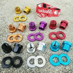 1 PAIR SHADOW CONSPIRACY AXLE NUTS BOLTS WASHERS 14MM BMX BIKE AXLE NUT ALLOY