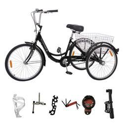 """1-Speed 24"""" Adult 3-Wheel Tricycle Trike Cruise Bike Bicycle"""