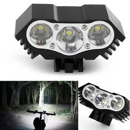 10000Lm 3 x CREE XM-L T6 LED Bicycle Lamp Bike Headlight Cyc
