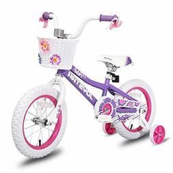 JOYSTAR 12 14 16 Inch Kids Bike with Training Wheels for 2-7