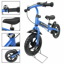 12'' Blue Kids Balance Bike Children Boys & Girls with Brake