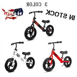 "12"" Children's Balance Bike No-Pedal Learn to Ride Running B"