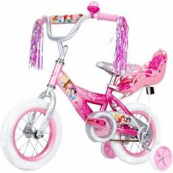 "12"" Huffy Disney Princess Girls' Bike with Doll Carrier todd"