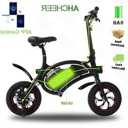 "ANCHEER 12"" Electric Folding Bike City Mini Bicycle 350W E-b"