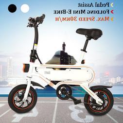 """12"""" Foldable Electric Bike/Hybrid bike Bicycle Ebike 350W 36"""