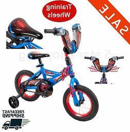 12 inch boys bike Training wheels Spider Man Riding Bicycle