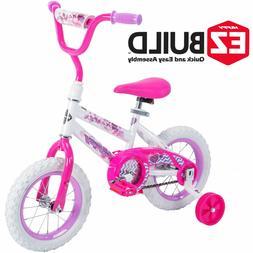 Huffy 12 Inch Sea Star Girls EZ Build Bike White Pink Bicycl