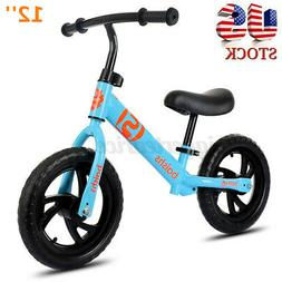 "12"" Kids Balance Bike No Pedal Bicycle Ride Scooter Toys Gif"