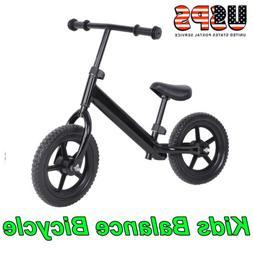 "12"" Kids Balance Bike No-Pedal Learn To Ride Pre Bike + Adju"