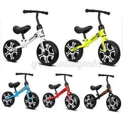 """12"""" Kids Balance Bike No Pedal Toddler Bicycle Adjustable Se"""