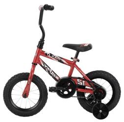 """Huffy 12"""" Rock It Boys Bike for Kids, Red Rider Ht: 2 0"""" to"""