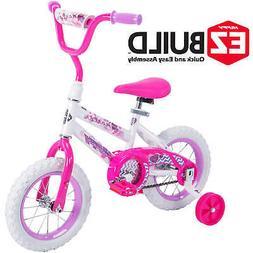 "Huffy 12"" Sea Star Girls' EZ Build Bike Kids Training Bicycl"