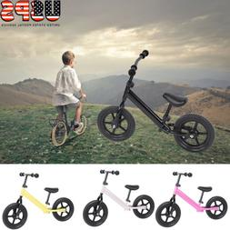 12'' Wheel Carbon Steel Kids Balance Bicycle Children No-Ped