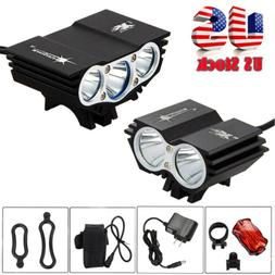 12000 Lumen 8.4V Rechargeable Cycling Light Bicycle Bike LED