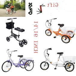 14/16inch Kids Teenage 3-Wheel/4-Wheel Tricycle Trike Bicycl