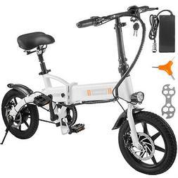 """14"""" 250W 36V Electric Bicycle Folding Ebike Bike Lithium Bat"""
