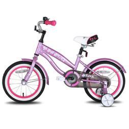 JoyStar 12 14 16 Inch Kids Cruiser Bike for Girls with Train