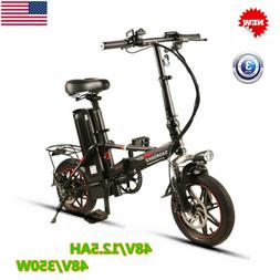 """14"""" Electric Bicycles Bikes Carbon Steel Double Foldable 3"""