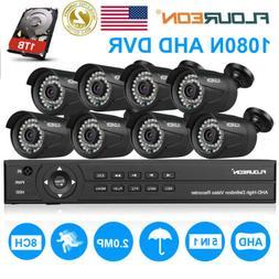 4x 1080P 2MP 3000TVL AHD Dome DVR Camera Home Outdoor Securi