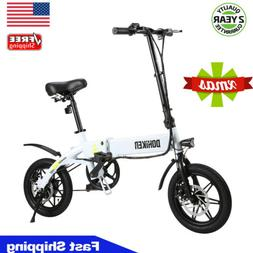 14 Inch Folding Electric Bike Collapsible Moped Bicycle 250W