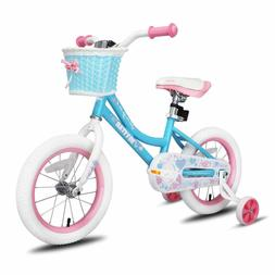JOYSTAR 14 Inch Kids Bike for Girls with Training Wheels & B