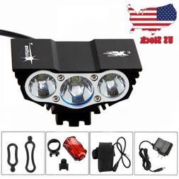 15000Lm LED Bicycle Headlight Mountain Bike Front Lamp Rear