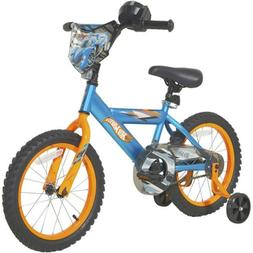 "DYNACRAFT 16"" BOYS HOT WHEELS BIKE, BLUE *DISTRESSED PKG*"
