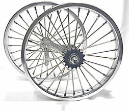 16 inch Front Rear Heavy Duty bicycle wheelset 10g spokes Co