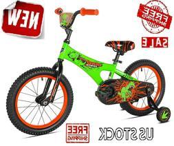 """16"""" Kids BMX Bike Boys Sidewalk Toddler Bicycle 16-inch w/ T"""