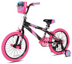 "Kent 18"" Girls', Sparkles Bike, Black/Pink, For Ages 6-9"