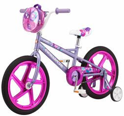 18 Inch Girl's Kids Outdoor Bike Purple Removable Training W