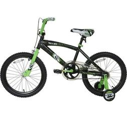 "NEXT 18"" SURGE BOY'S BMX BIKE, BLACK/GREEN *DISTRESSED PACKA"