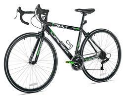 "GMC 19"" 700c Adult, Denali Road Bike, Black/Green"