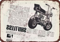1968 Rupp Minibikes Vintage Look Reproduction Metal Sign 8 x