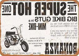 "Tamengi 1969 Bonanza Minibikes Vintage Look 8"" X 12"" Metal S"