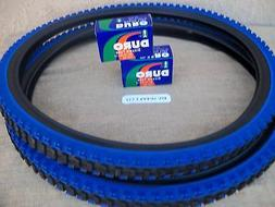 26'' X 1.95 BLACK & BLUE MOUNTAIN BIKE TIRES  &   TUBES , M