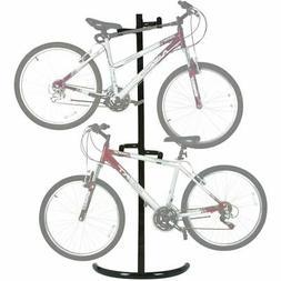 2-Bike Stand Bicycle Rack Freestanding Storage System Garage