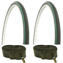 "1-26/""X1 3//8/"" Black Green Line Road Bike Duro Touring Tire 264582"