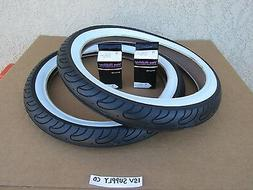 NEW  20'' x 3.00 WHITE-WALL BICYCLE TIRES WITH  TUBES FOR S
