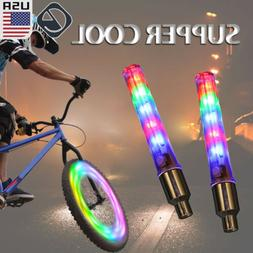 2 Packs Bicycle Waterproof 32 LED Bike Rim Lights for MTB Wh