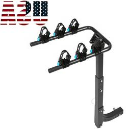 """2"""" Receiver Rack Bicycle Rear Carrier 3 Bike Hitch Mount Swi"""