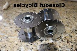 """2 Steel Hollow Hub 36h 80g Chrome for 5//8/"""" axle Tricycle Conversion Kit Wheel"""