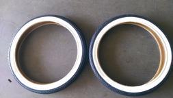 "2pack Tires+tubes 16"" x 1.75 black WhiteWall Bicycle Tires B"