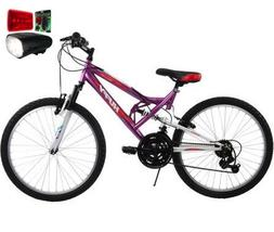 "Bundle of 2: 24"" Huffy Trail Runner Women's Bike, Pink and W"