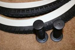 """2 DURO White Wall Tires Tubes + RIM STRIPS 26"""" x 2.125"""" Crui"""